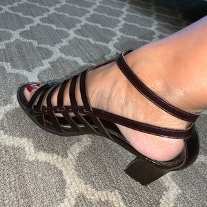 Franco Sarto DELTA sandals leather dark brown 7.5